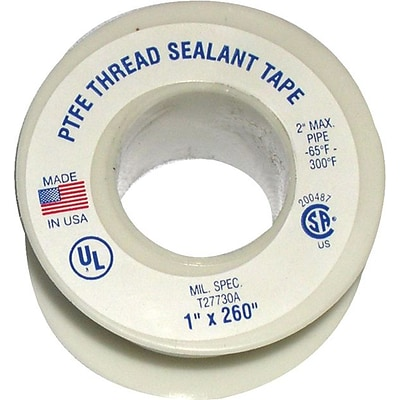 Plastomer™ Technetrics Thread Sealant Tape, 1/2x1296