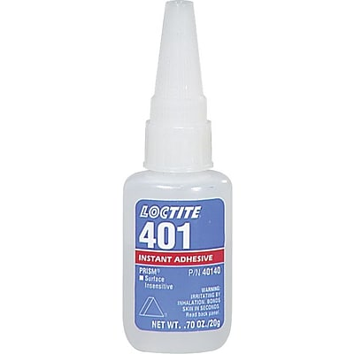 Loctite® 401™ Prism® Instant Adhesive Surface Insensitive, Clear Tube, 20 g