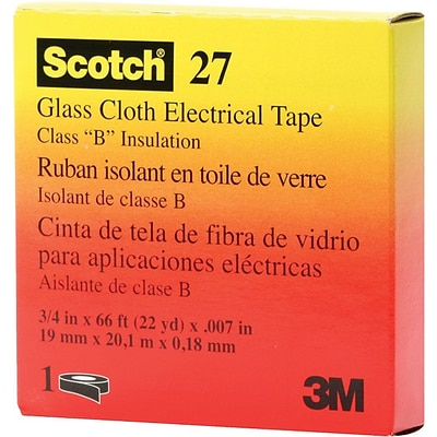 Scotch® Glass Cloth Electrical Tape; White, 7 mil