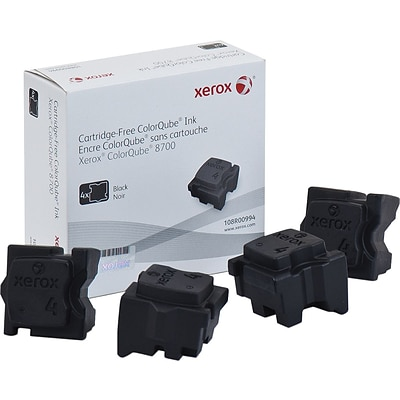 Xerox 108R00994 Black Ink Stick, Standard Yield 4/Pack