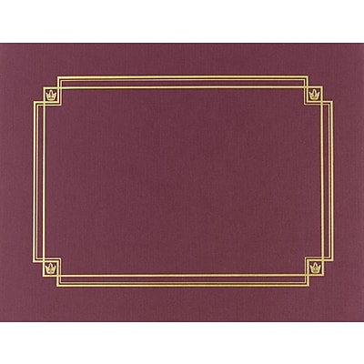 Premium Textured Certificate Holder, Burgundy