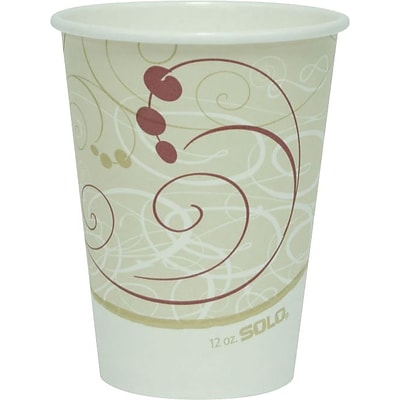 SOLO® Symphony® Paper Hot Cups, 12 oz., 1,000/Case