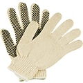 Ambitex® Dotted String Knit Gloves, PVC 1-Side, Medium, 12 Pair