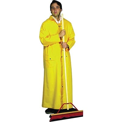 Anchor Brand Riding Raincoat, PVC on Polyester, Yellow, 2X-Large