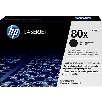 HP 80X Black Toner Cartridge, High Yield (CF280X)