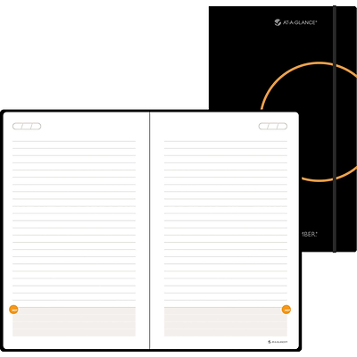AT-A-GLANCE® Plan.Write.Remember.® Perfect Bound Planning Notebook, Undated, 5 x 8-1/4, Black (80-6124-05)