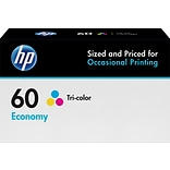 HP 60 Tri-Color Ink Cartridge, Economy