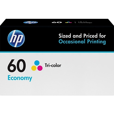 HP 60 Tri-Color Economy Ink Cartridge (B3B06AN)