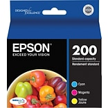 EPSON® 200 DURABrite Ultra Ink Cartridges; Color, Multi-pack (3 cart per pack)