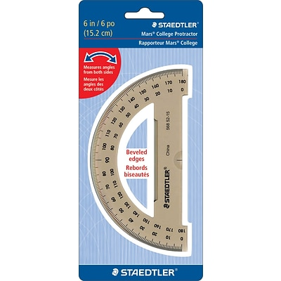 Staedtler® Mars® 180 Degree Protractor, 72/Ct