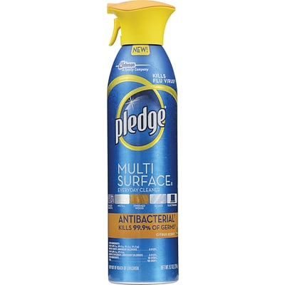 Pledge® Multi-Surface Everyday Cleaner, Antibacterial, 9.7 oz.