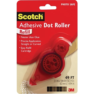 Adhesive Dot Refill, .3 in x 49ft (6055-R)