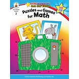 Puzzles & Games for Math Resource Bk Gr. 2