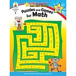 Puzzles & Games for Math Resource Bk Gr. 3