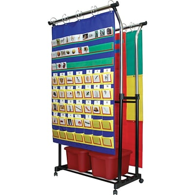 Double pocket chart stand chart accessory quill com