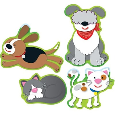 Carson-Dellosa Dogs & Cats Shape Stickers