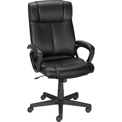 Quill Brand® Turcotte Luxura® High Back Managers Chair; Black