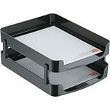 Desk Accessories; Front Loading Ltr Tray, 2PK