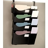 OIC Grande Central Mail and Filing Wall Pockets 4-Pckt Wall File Set, Letter/Legal with Cube Hangers