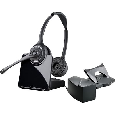 Plantronics® CS520/HL10 Wireless Office Headset, with Plantronics HL10 Handset Lifter