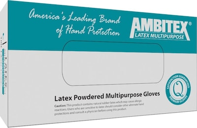 Ambitex(r) Nitrile Gloves; Multi Purpose Gloves, Powder Free, Medium, 100/Box, 10Bx/Carton