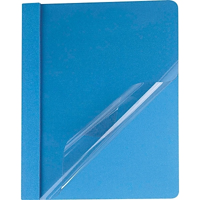 Oxford® Clear Front Report Covers, Light Blue