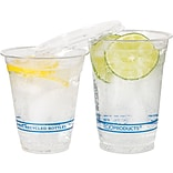 Eco-Products® BlueStripe™ Cold Cups, 12oz., Clear, 50/Pack (ECOEPCR12PK)