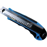 Cosco® Plastic/Rubber Heavy-Duty Retractable Snap-off Blade Utility Knife W/4 8-Point Blades, Blue
