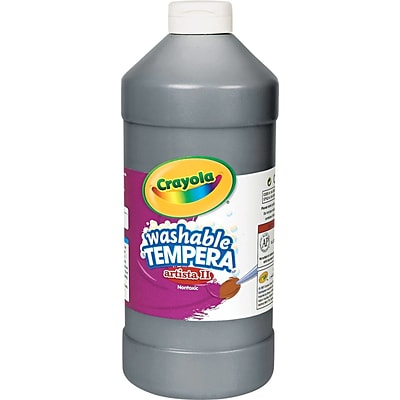Tempera Paint; Economy, Black, Quart Bottle