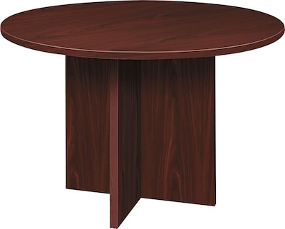 "basyx by HON BL Laminate 29 1/2""H x 48""(Dia) Round Conference Table, Mahogany NEXT2017 NEXT2Day"