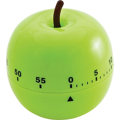 Shaped Timer, 4 1/2 dia., Green Apple