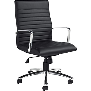 Luxhide Exec Chair w/Arms; Leather, 21x17.5