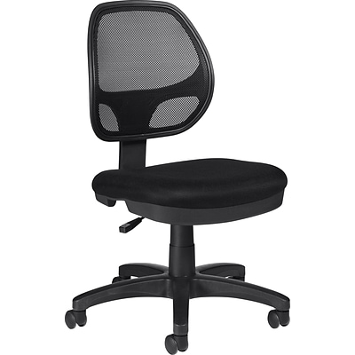 Offices To Go® Task Chair, Mesh, Black, Seat: 19W x 17D, Back: 17W x 19H