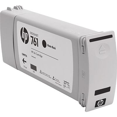 HP 761 Black Matte Ink Cartridge (CM997A), Extra High Yield