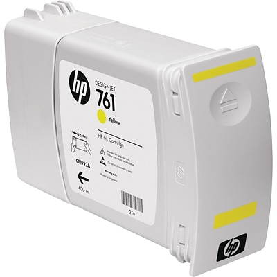 HP 761 Yellow Ink Cartridge, CM992A