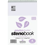 Roaring Spring Paper Products Enviroshades Steno Notebook, 6 x 9, 80 Sheets/Pad, Gregg Ruled, Recy