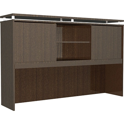 Alera® SedinaAG Woodgrain Laminate Hutch With Sliding Doors, 72W, Espresso