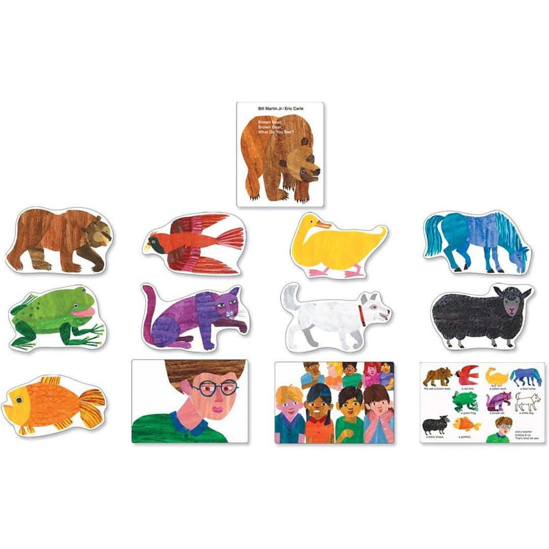 Carson Dellosa Brown Bear What Do You See Bulletin Board Set Quill Com