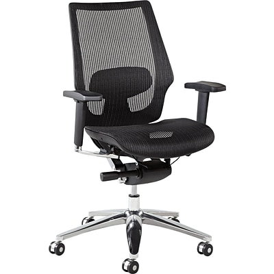 Alera® K8 Ergonomic Multifunction Mesh Chair, Black