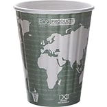 Eco-Products® World Art™ Insulated Compostable Paperboard/PLA Hot Cup; 12 oz.; Dark Green, 600/Ct