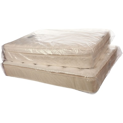 56 x 15 x 95 Mattress Bags 3 mil, Clear, 1 Roll (3115)