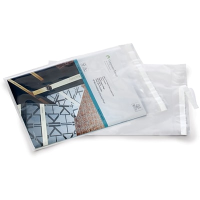 Clear Postal Approved Lip & Tape Mailing Bags, 9x12, 1000/Case