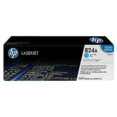 HP 824A Cyan Standard Yield Toner Cartridge (CB381A)