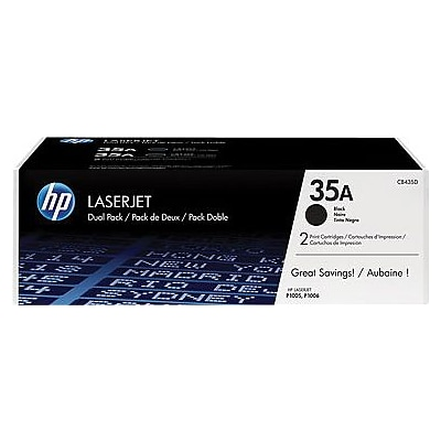 HP 35A (CB435AD) Black Original LaserJet Toner Cartridges, Multi-pack (2 cart per pack)