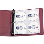CD Holder Refill, Holds 8 Compact Disc Per Page, 5 Pages Per Pack, Clear
