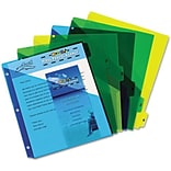 Preprinted Six-Tab Double Pocket Dividers, 11 x 8-1/2, 1-6, Assorted