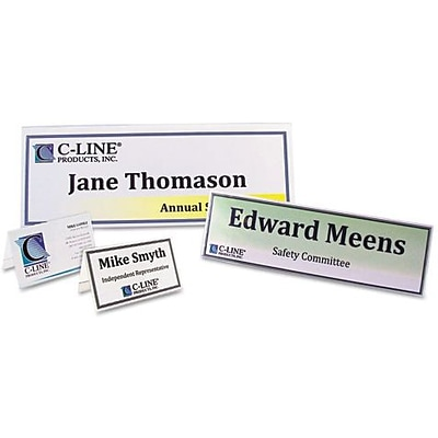 Tent Card Holder, 2 1/2 x 8 1/2, Clear, 25/Box