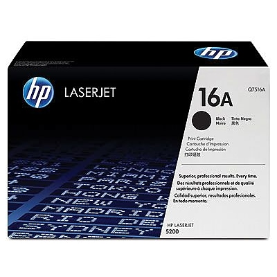 HP 16A Black Toner Cartridge (Q7516A)