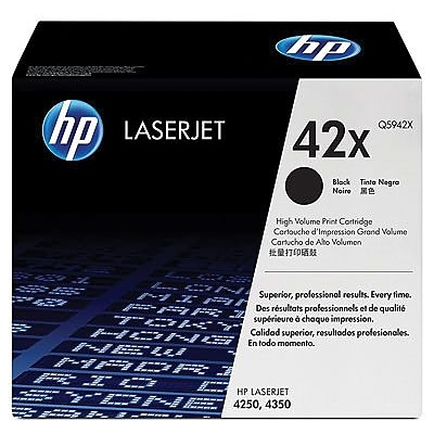 HP 42X Black Toner Cartridge (Q5942X), High Yield