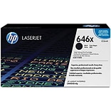 HP 646X Black Toner Cartridge (CE264X), High Yield